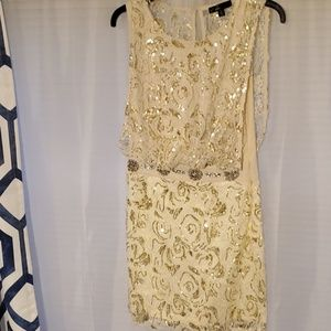 Gold Sequenced Cocktail Dress
